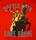 NWT $34 Hustle Brand Red Lone Brave T Shirt Mens Size XL 2X NEW SS Cotton