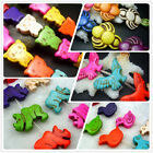 Multi-Color Turquoise Gemstone Animal Spacer Beads Jewelry