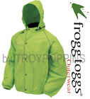 FROGG TOGGS RAIN GEAR MENS-FT63132-48 HV LIME GREEN XL JACKET ROAD TOAD WET WEAR