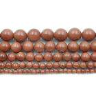 Natural Gold Sand Gemstone Round Beads 15.5'' 4mm 6mm 8mm 10mm 12mm 14mm 16mm