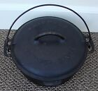 Very Nice Vintage Old GRISWOLD Cast Iron #8 Dutch Oven Baster Tite Lid A2551