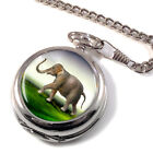 Indian Elephant Pocket Watch (Optional Engraving)