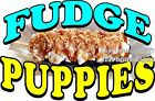 (Choose Your Size) Fudge Puppies DECAL Food Truck Concession