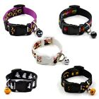 Puppy Pet Cat Dog Halloween Bell Adjustable Collar Buckle Neck Necklace Strap MM