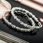 "Fashion Women Ladies Jewelry Silver Plated ""Stars"" Hoop Dangle Earring Hot TNXU"