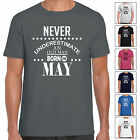 Never Underestimate An Old Man Born In May - Mens T Shirt Birthday Gift Fun