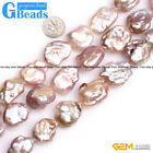 "Natural Baroque Large Nuclear Edison Pearl Beads For Jewelry Making Strand 15""GB"