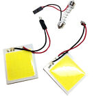 2x Auto 48 COB LED Panel Innenraum Bleuchtung C5W T10 BA9S Adapter Soffitte 2017