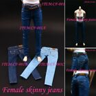 "1 6 Female Skinny Jeans Trousers Pants For 12"" Seamless Doll Body Figure CF-001"