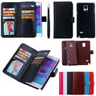 Practical Magnetic 9 Card PU Leather Flip Wallet Case Cover For Samsung / iPhone