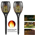 2PCS Solar Torch Light 96 LED Flickering Lighting Landscape Dancing Flame Lamp