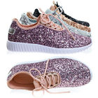 Remy18k Lace up Rock Glitter Fashion Sneaker For Children / Girl / Kids