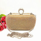 Ladies Glitter Shimmer Evening Bag Party Clutch Handbag Clip Clasp Women Purse