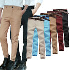 2017 New Men's Skinny Pants Straight Stretch Work Business Jeans Trousers