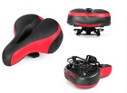 Wide Leather Bike Bicycle Cycling Cushion Comfort Sporty Soft Pad Saddle Seat