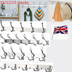 Stainless Clothes Robe Coat 10/12/15 Hook Holder Rack Hooks Durable Wall Hanger