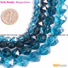 Faceted Blue Kyanite Gemstone Beads For Jewelry Making Strand 15'' 6,8,10,12mm