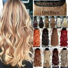 One Piece Full Head Clip In 100% Real As Human Hair Extensions 5Clip On Brown TF