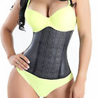 AU 100% Latex Steel Boned Body Shaper Waist Training Corset Cincher Shapewear