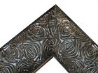"2.3"" Aged Black Rose Ornate Wood Canvas Frame Picture Frame-Custom Panoramic"