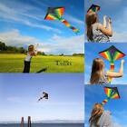 Portable Rainbow Kite Triangle Kite for Kids Adults For Outdoor Games TXWD