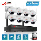 ANRAN HD 8CH 1080P Wireless Home Security System NVR Outdoor CCTV Camera 3TB Kit