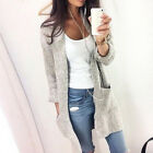 Women Uutdoor Autumn&Winter Loose Long-sleeved Knit Cardigan Soft Sweater Blouse