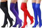 New Women BD57 Stretchy Over the Knee Thigh High Stiletto Heel  Pointy Toe Boots