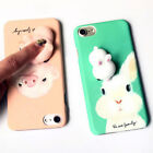 Squishy 3D cute rubbit pig Phone Case Hard Cover For iphone 5S 5 6 6S 7 Plus