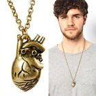 Unqiue Vintage Anatomy Heart Pendant Necklace for Men and Women Jewelry LACA