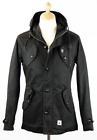 SALE! NEW MENS 'BERNSTEIN' FLY53 RETRO INDIE MOD HOODED PARKA IN BLACK K40