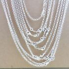 "Wholesale 16-30 Inches 925 Silver ""o"" Chain Necklace Pendant Link Jewelry 2.5mm"