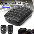 Rear Passenger Retro Pillion Seat Pad 6/8 Suction Cups For Harley Softail Dyna