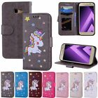 Leather Stand Wallet Cards Case Photo Flip Cover For Samsung Galaxy A3 A5 2017