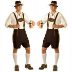 Men's Lederhosen Oktoberfest Bavarian German Beer Waiter Costume Fancy Dress A