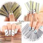 24 Sheet 3D Printed Bronzing Nail Art Sticker Set Manicure Tips Decal Tools TX