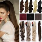 Clip In Ponytail Claw On Hair Extension Piece Wavy Straight Style Long Fake Hair