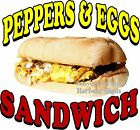 Pepper & Eggs Sandwich DECAL (CHOOSE YOUR SIZE) Food Truck Restaurant Concession