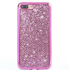 For iPhone XS 8 Plus Pink Glitter Bling Sparkle Cute Protective Phone Case Cover
