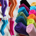 Kids Girls Candy Opaque Tights Pantyhose Hosiery Ballet Dance Stockings