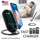 Qi Wireless Fast Charger 2-Coil Stand Quick Charging for Galaxy S8+ iPhone 8/8+X