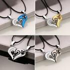 Hot Hollow Out Heart-shaped Charm Pendant Choker Necklaces with Leather DZ88