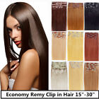 USA STOCK!22inch remy human hair clip In Extensions 7pcs&80g ,3-5 days delivery!