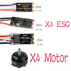4x 20A/30A/35A ESC +GTS2305 2450KV 3-5S Brushless Motor For RC Drones 4-Axis UAV