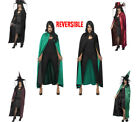 Ladies Witch's Cape Reversible Assorted Colours Halloween