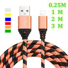0.8/3/6/10FT Heavy Braided Adapter Charger Charging Cable For iPhone 6 7 8 Plus