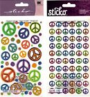 U CHOOSE Sticko PEACE SIGNS Stickers 60's 70's 80's