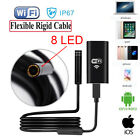 8 LED Wireless Borescope WIFI Endoscope Inspection Camera for Android iPhone UK