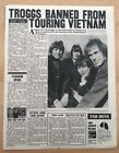 TROGGS 'banned from Viet Nam' magazine PHOTO/Article/clipping 13x10 inches