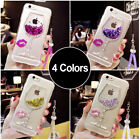 Mobile Phone Case Silicone Cover Quicksand Wine Glass Goblet for  iPhone Samsung